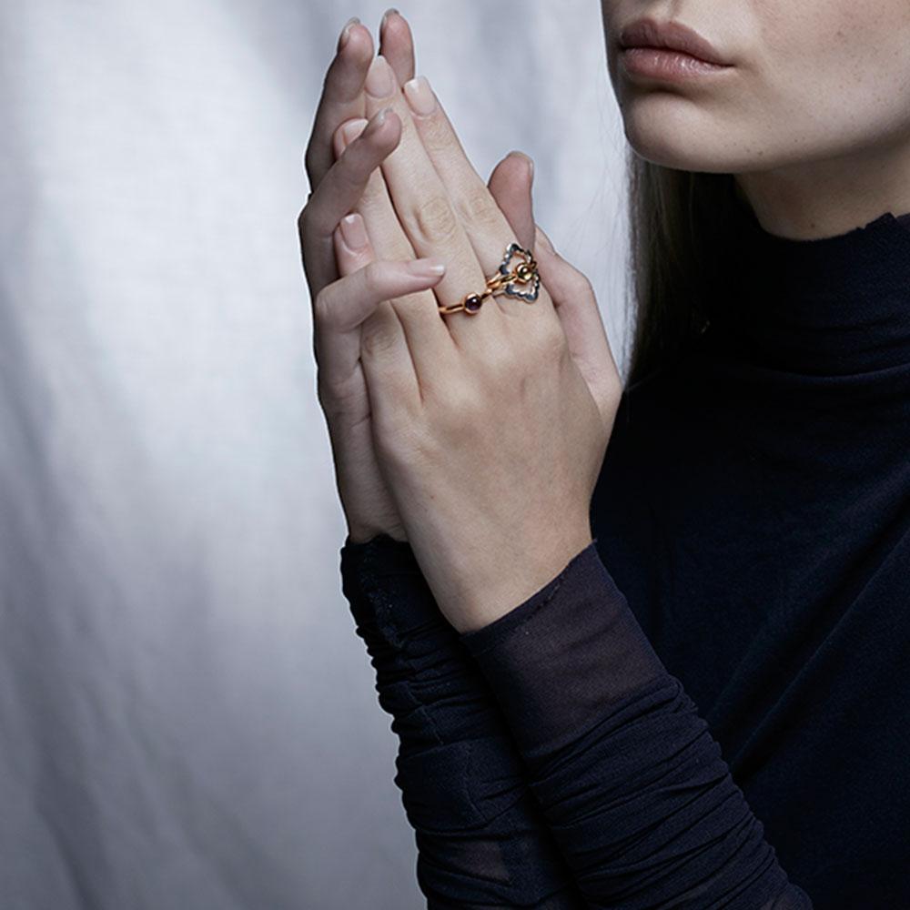 Moonstone Cabochon Ring 5mm - Image