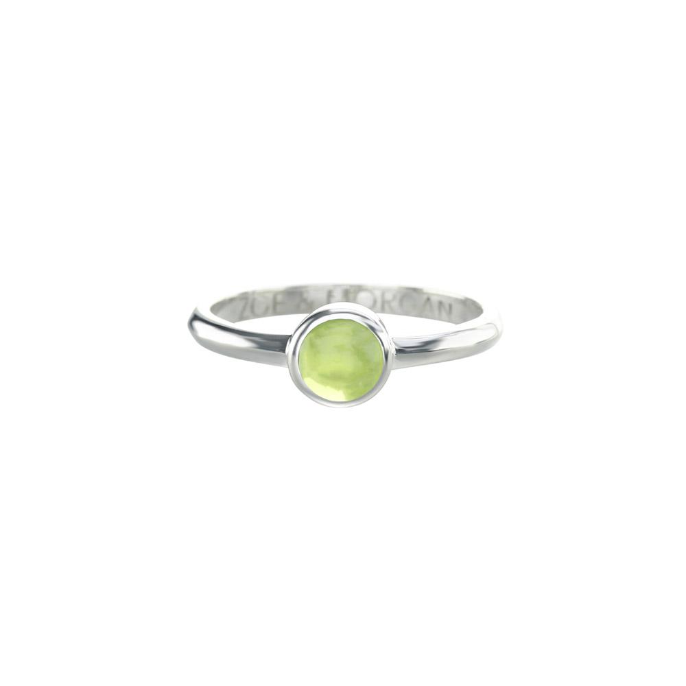 Peridot Cabochon Ring 5mm