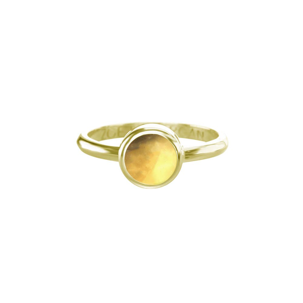 Citrine Cabochon Ring 7mm