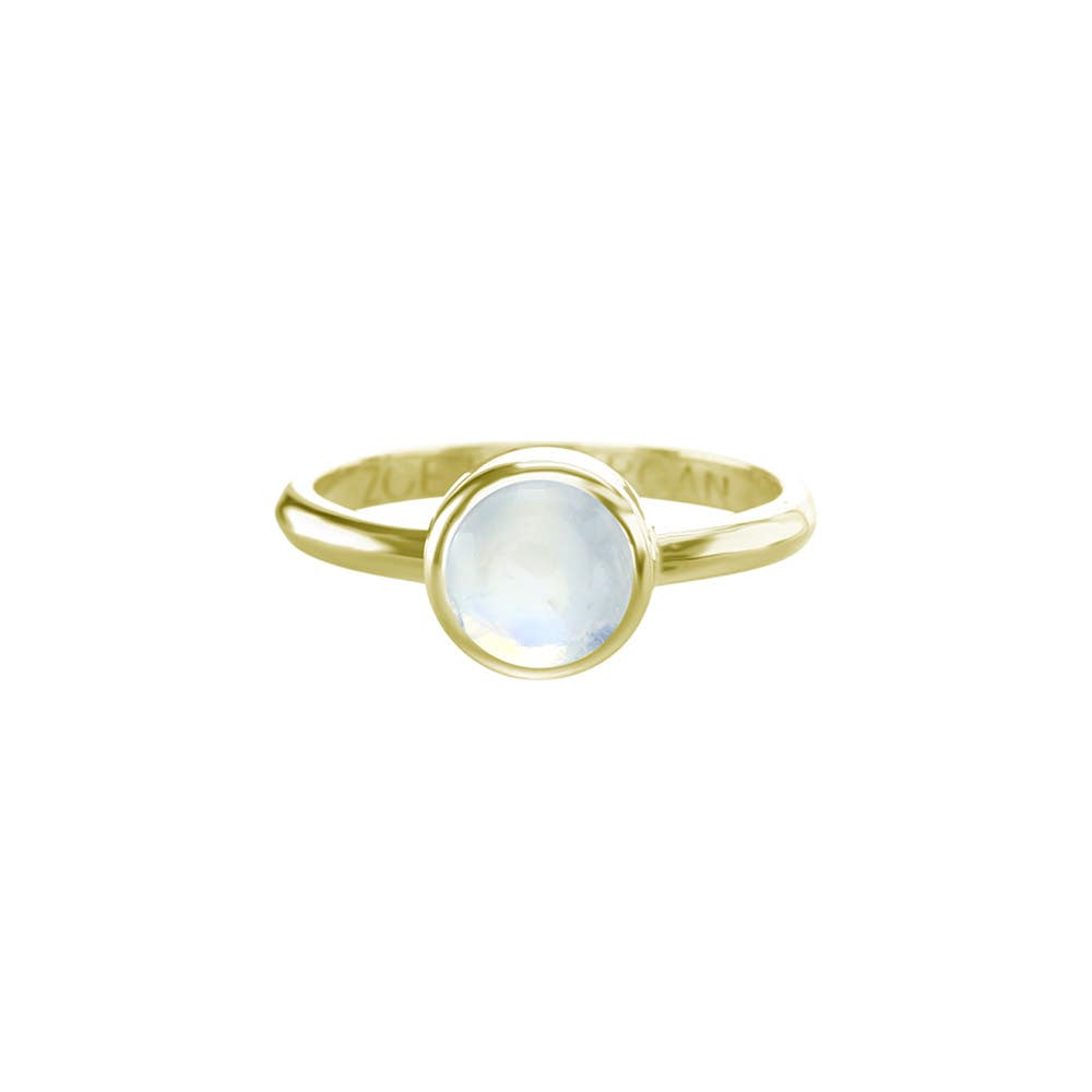 Moonstone Cabochon Ring 7mm