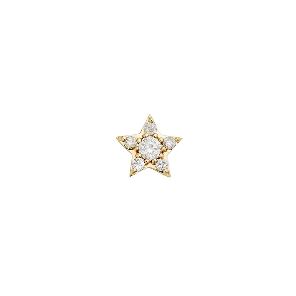 Alcyone Diamond Stud 9k Yellow Gold / White Diamond - Image
