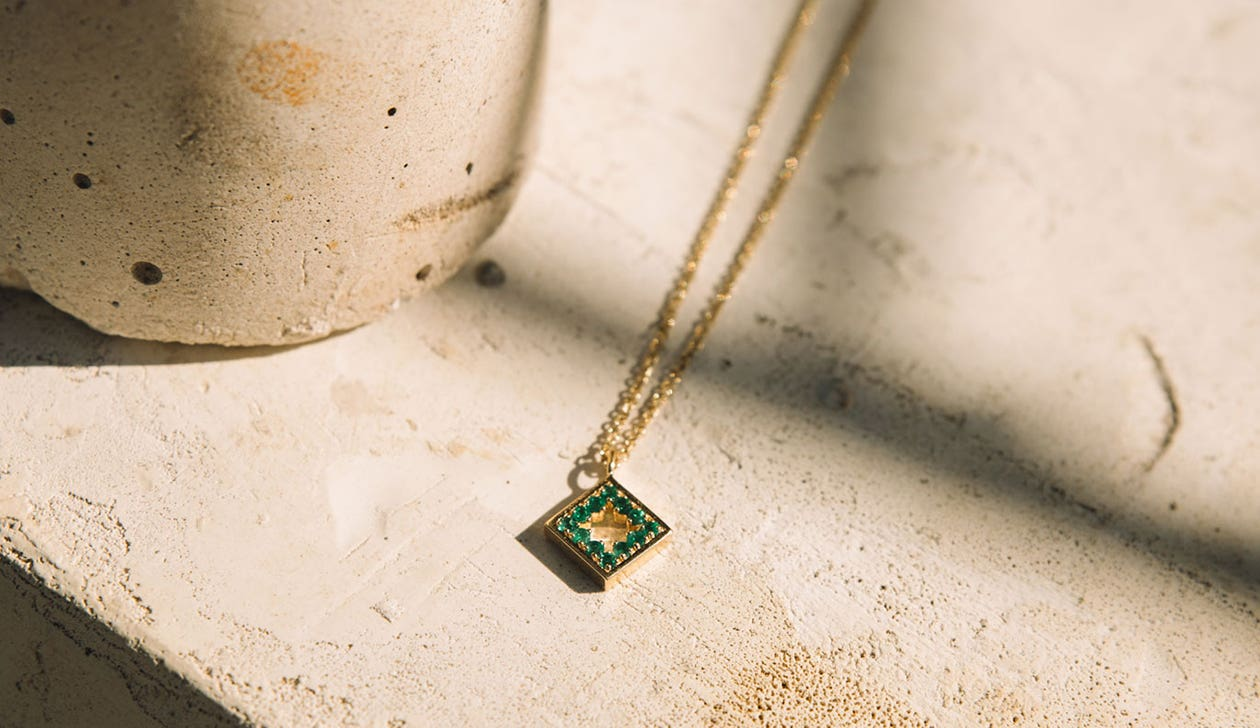 Amelia Necklace / Emerald