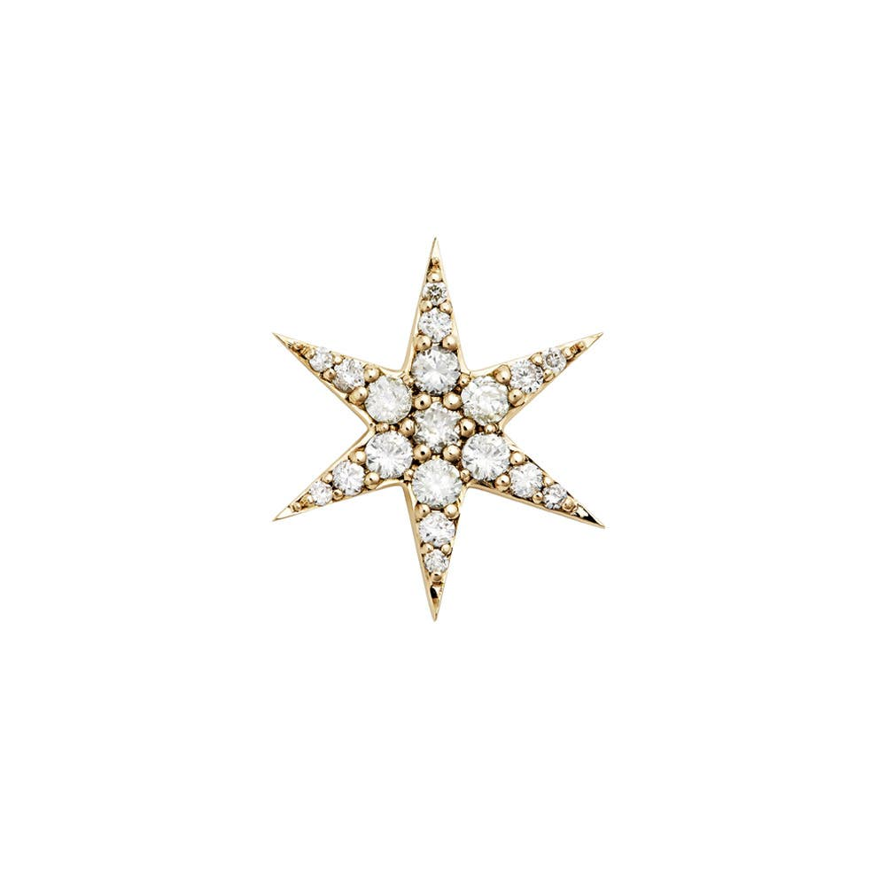 Anahata Diamond Stud. 9k Yellow Gold / White Diamond - Image