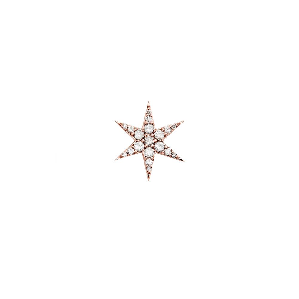 Anahata Diamond Stud.9k Rose Gold / White Diamond - Image