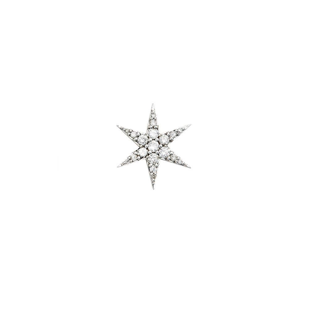 Anahata Diamond Stud. 9k White Gold / White Diamond - Image