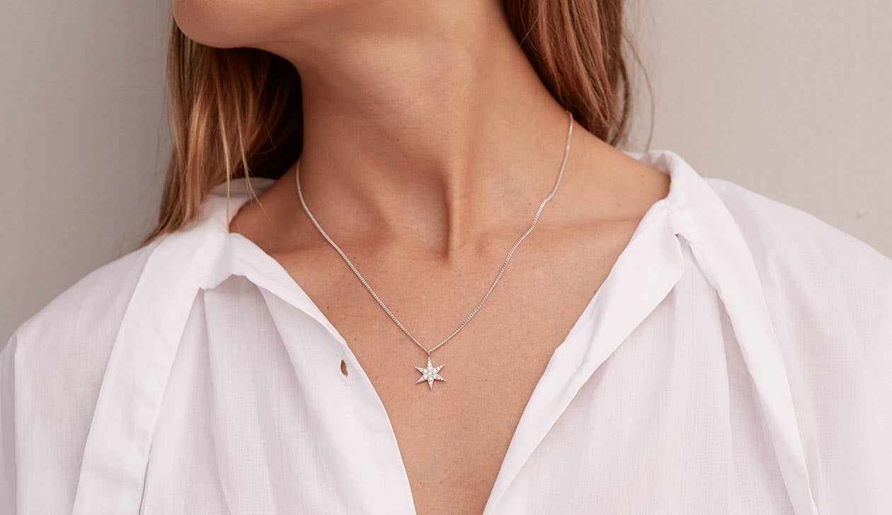 Anahata Diamond Necklace / 9k Rose Gold / Diamond