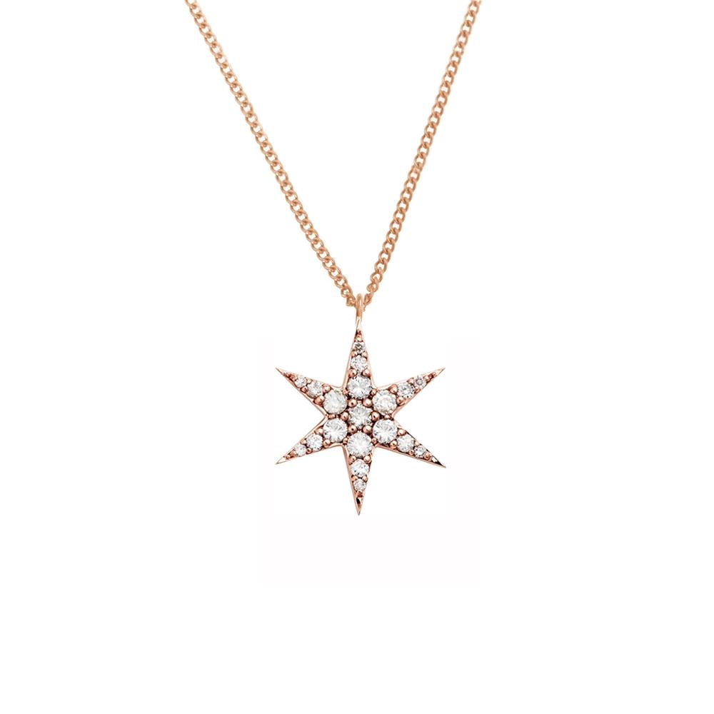 Anahata Diamond Necklace 9k Rose Gold / White Diamond - Image