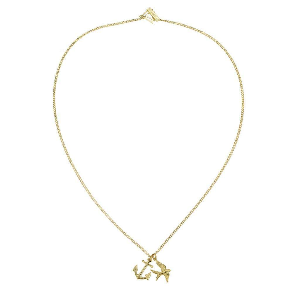 Anchor and Swallow Necklace - Image