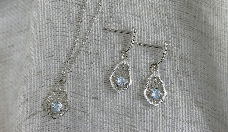 Bella Earring / 925 Sterling Silver / Aquamarine