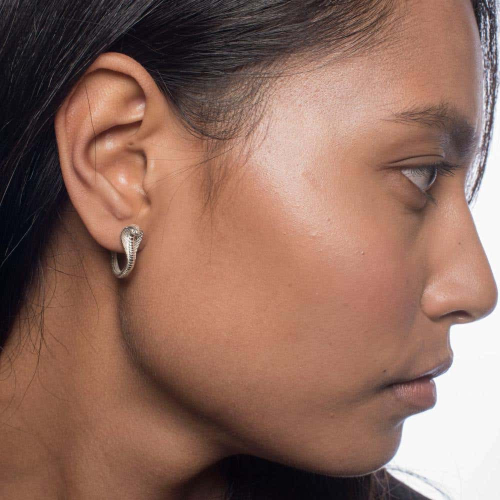 Cobra Hoop Earrings | Hover Image