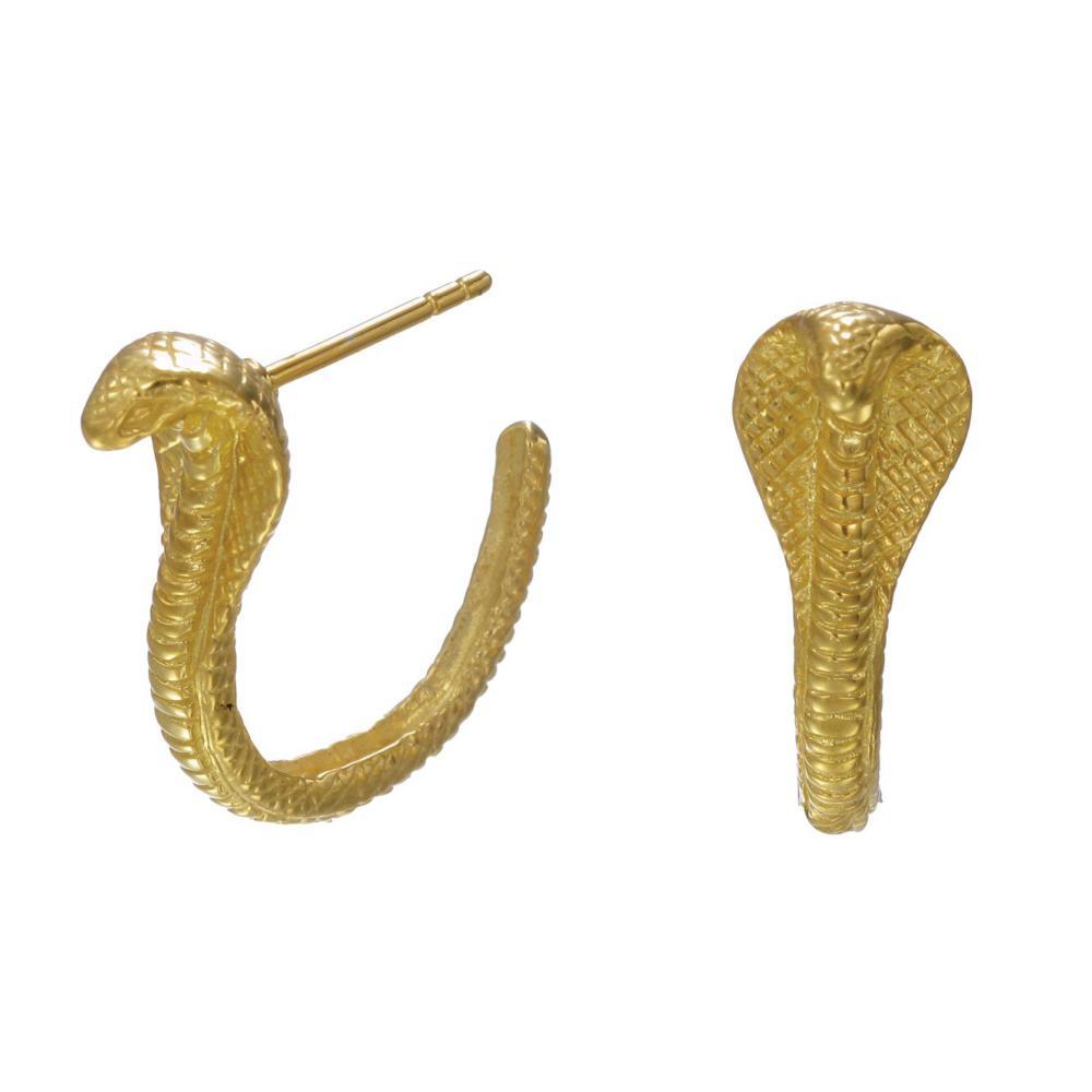 Cobra Hoop Earrings - Image
