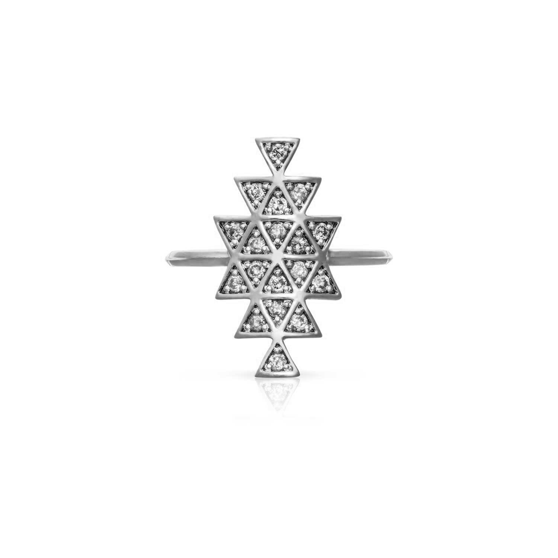 Cosmic Union Ring. 9k White Gold / Diamond - Image