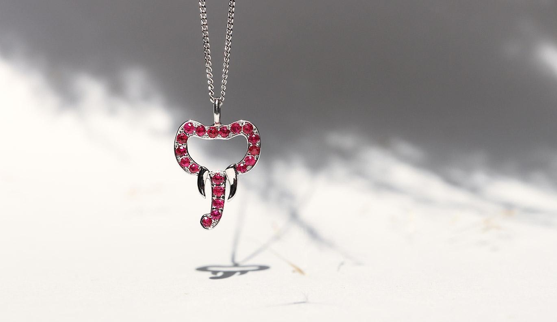 Elephant Necklace / Platinum