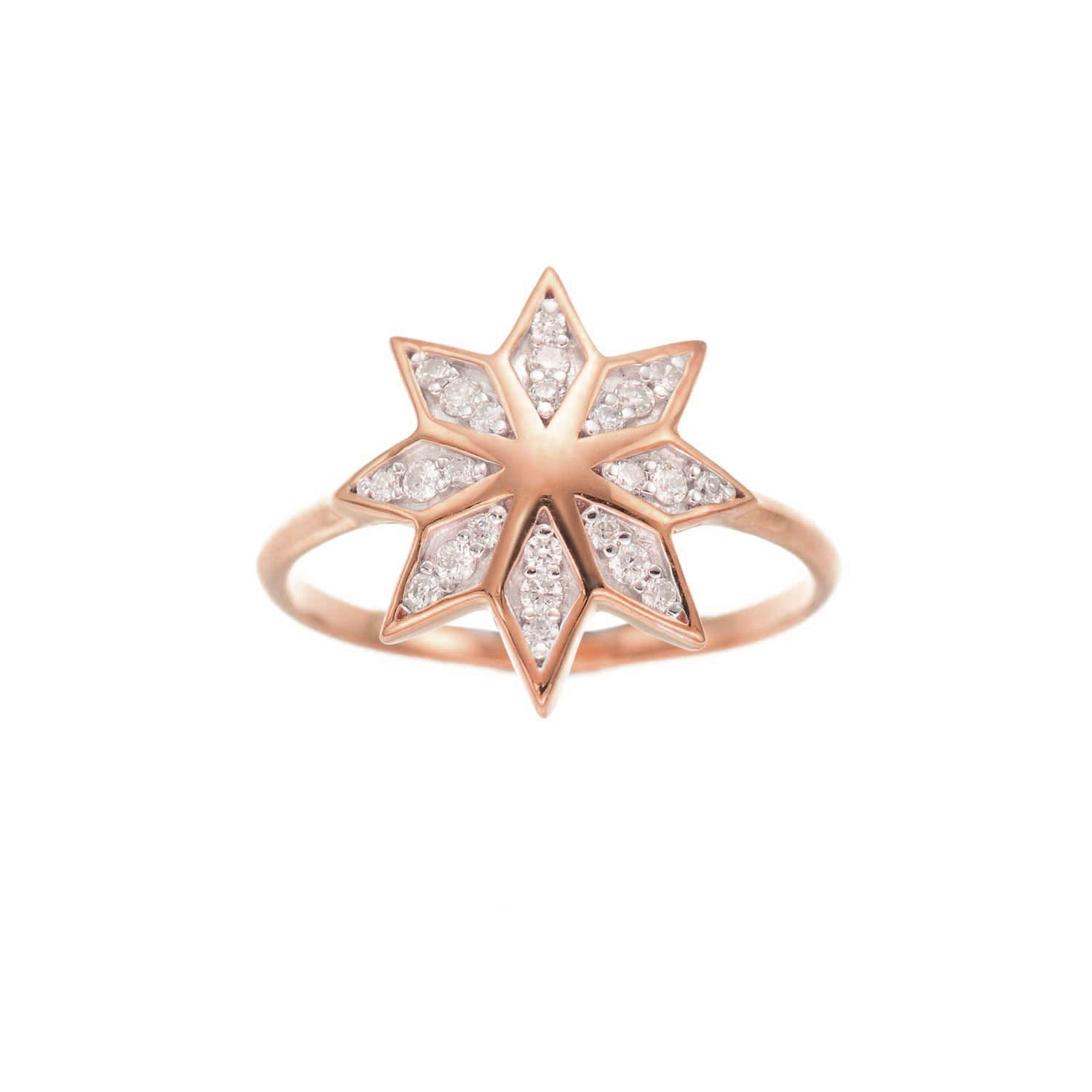 Lakshmi Ring. 9k Rose Gold / Diamond