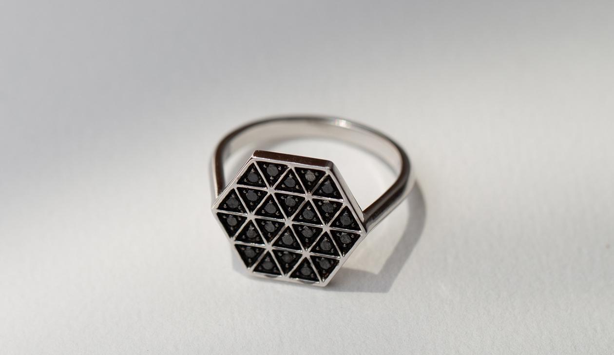 Hex Diamond Ring