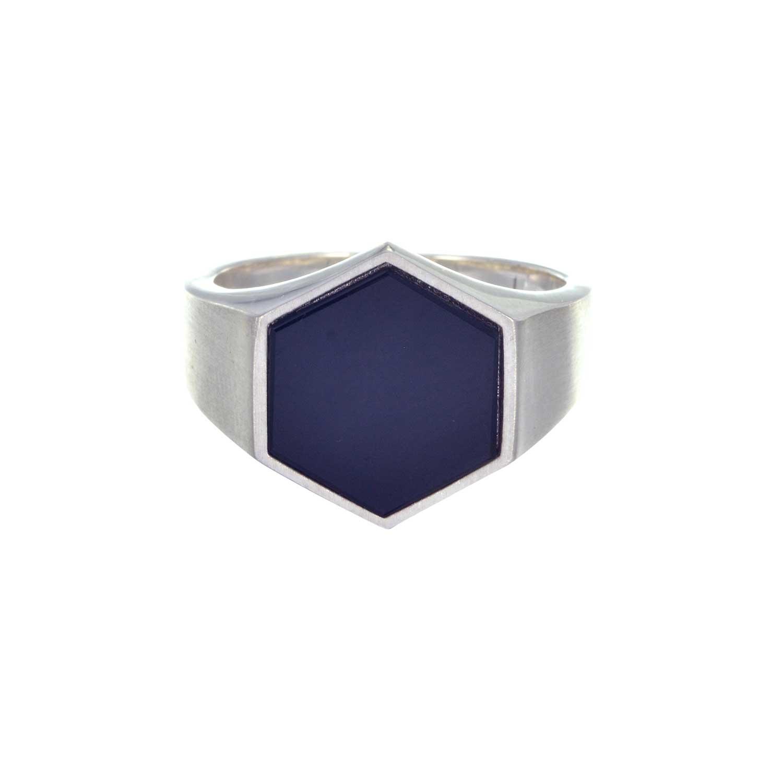 Onyx Hexagon Signet