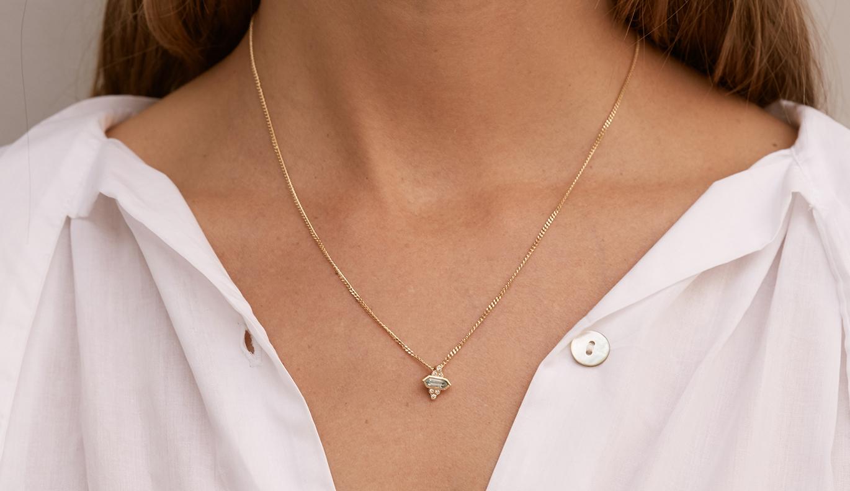 Kalani Necklace / 18k Yellow Gold / Aquamarine