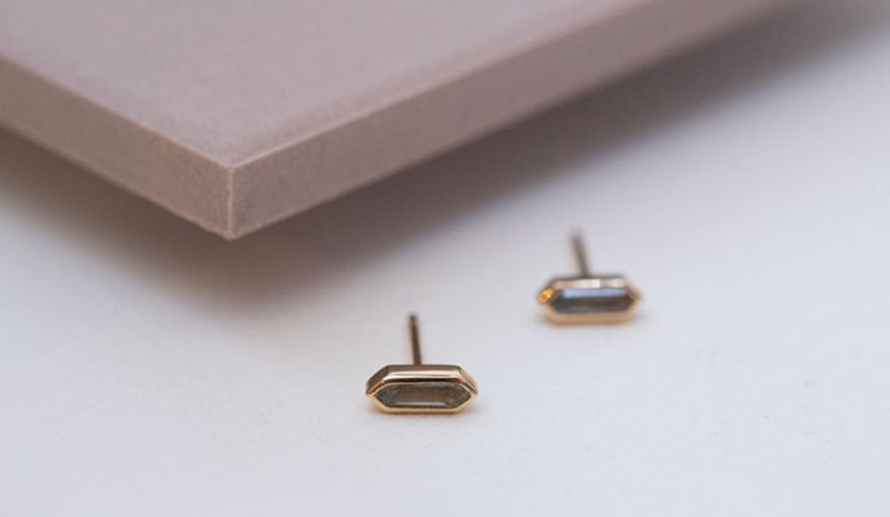 Lani Earrings / Aquamarine / 18k Yellow Gold