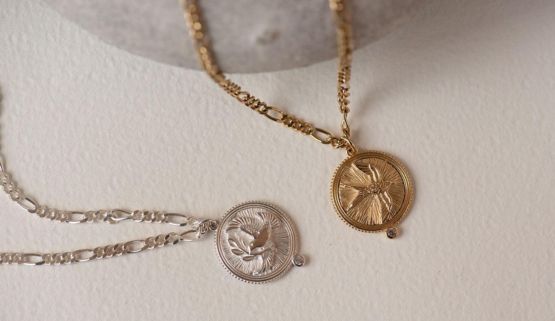 Loyalty Necklace / 22k Gold Plate / White Zircon