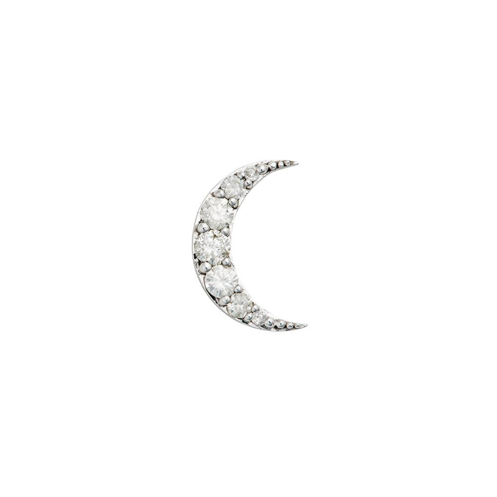 Luna Diamond Stud 9k White Gold / White Diamond - Thumbnail