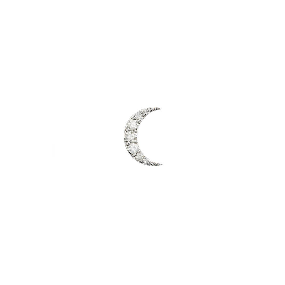 Luna Diamond Stud 9k White Gold / White Diamond - Image