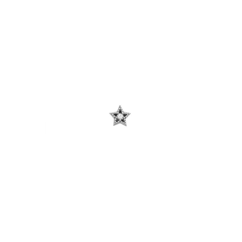 Maia Diamond Stud 9k White Gold / White Diamond - Image