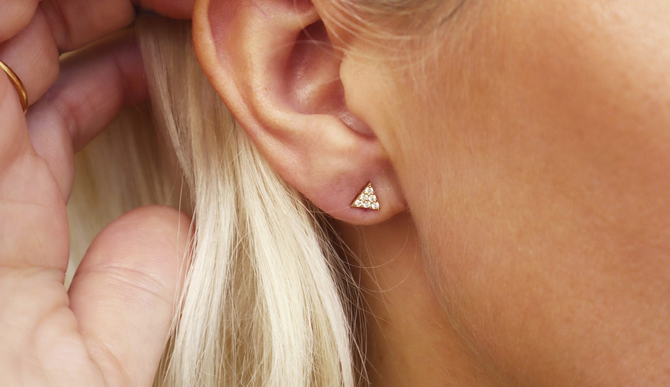 Mini Diamond Pyramid Stud
