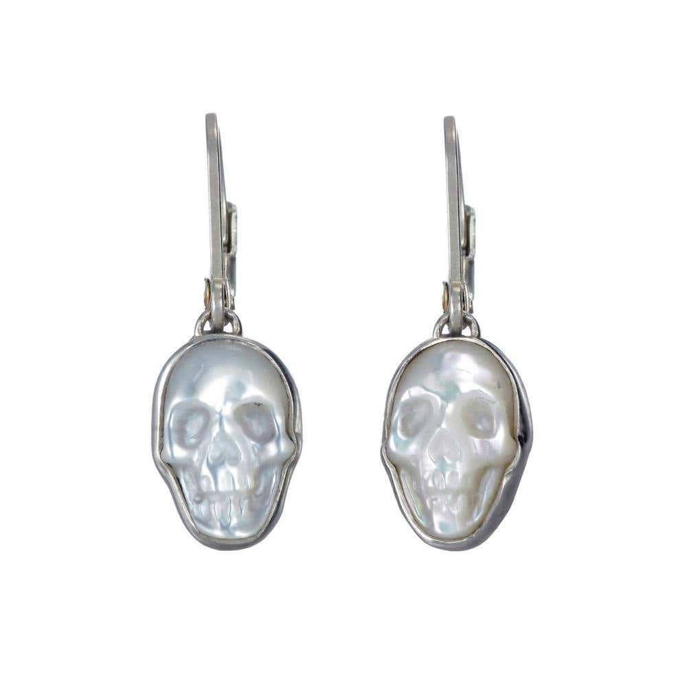 MOP Skull Earrings