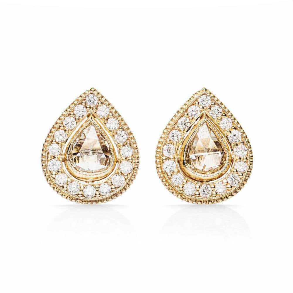 Pear Diamond Stud