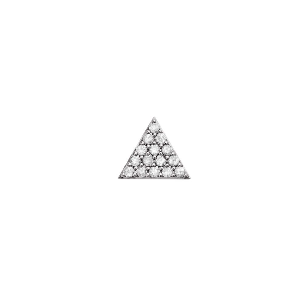 Pyramid of Diamonds Stud. 9k White Gold / White Diamond - Image