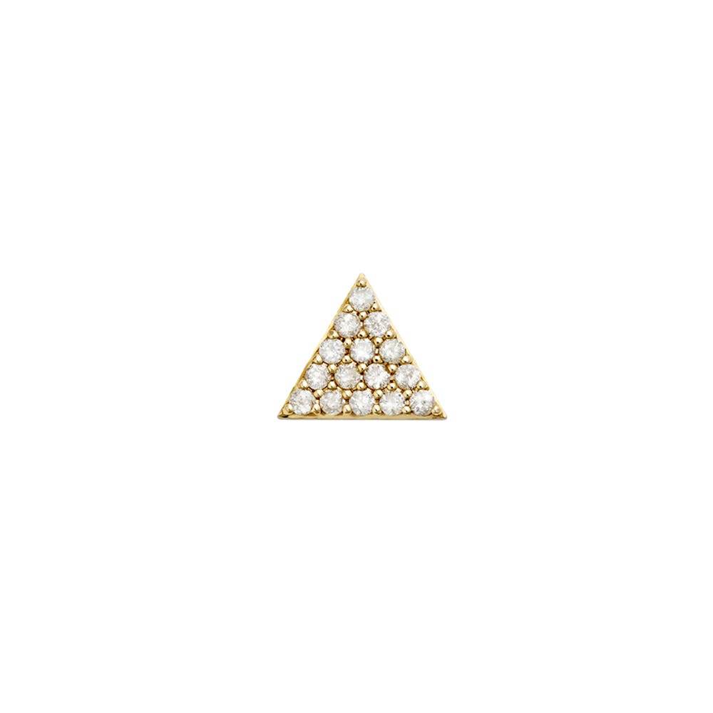 Pyramid of Diamonds Stud