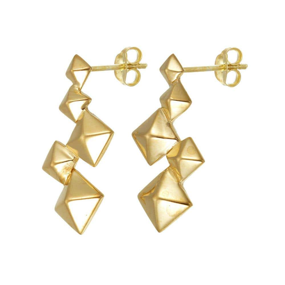 Pyramid Cluster Earrings - Image