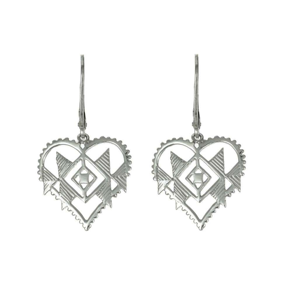 Tribal Heart Earrings