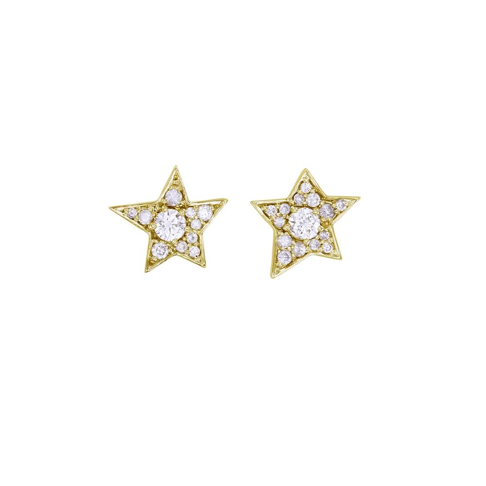 Twinkle 9k Yellow Gold / White Diamond - Image