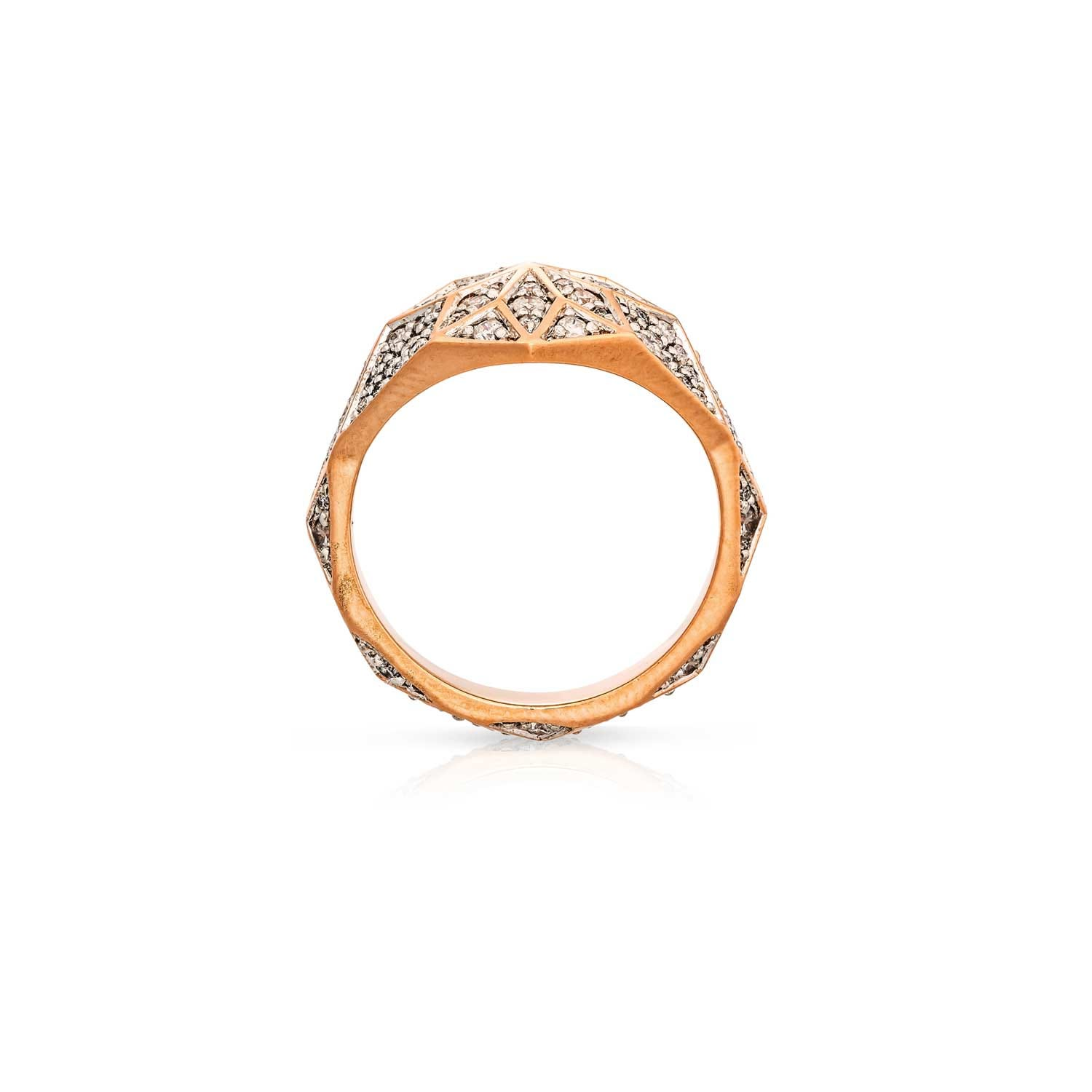 Venus Star Ring. 9k Rose Gold / Diamond  - Image