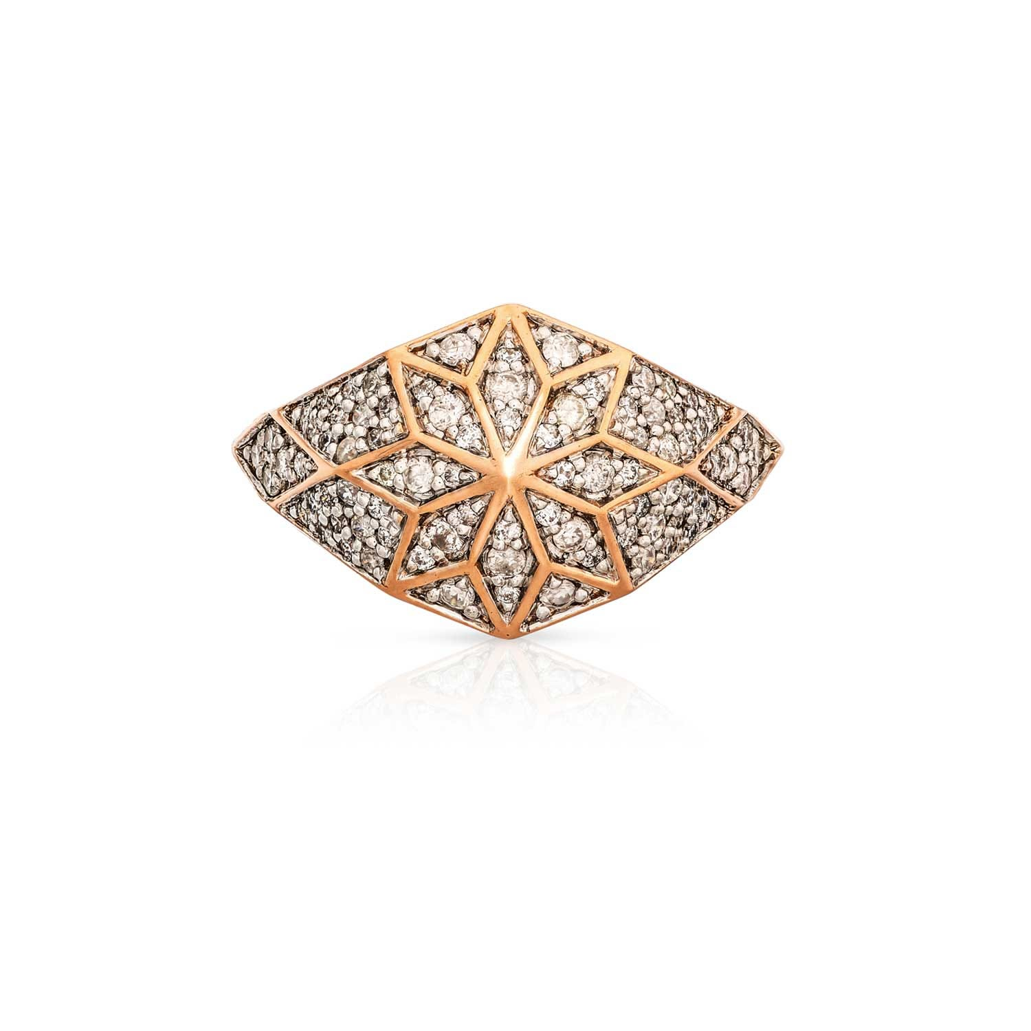 Venus Star Ring. 9k Rose Gold / Diamond  - Thumbnail