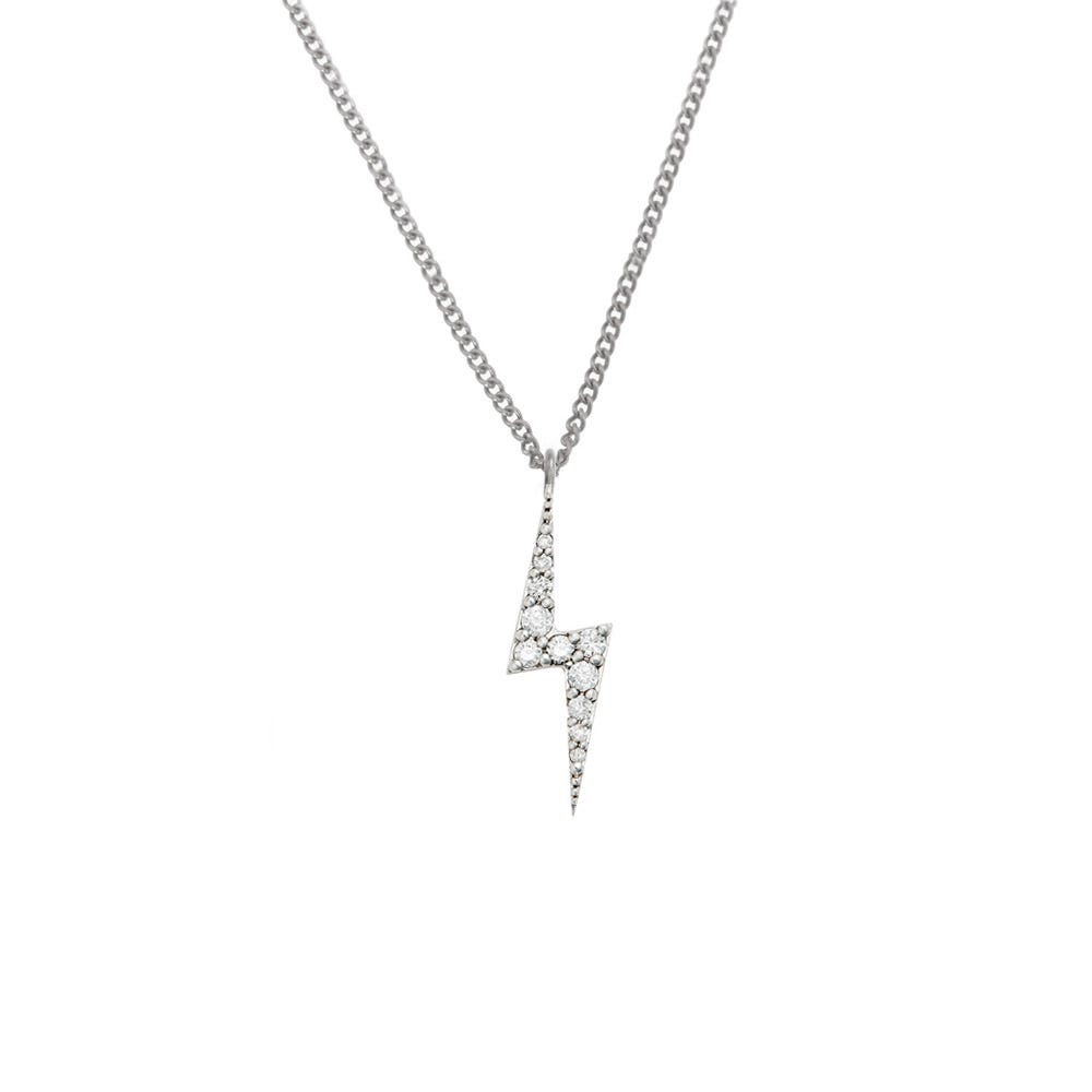 Zap Diamond Necklace White Gold / White Diamond - Image