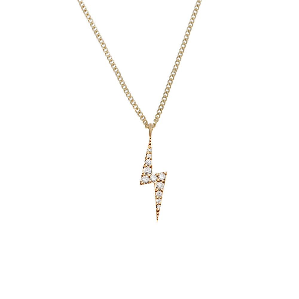 Zap Diamond Necklace 9k Yellow Gold / White Diamond