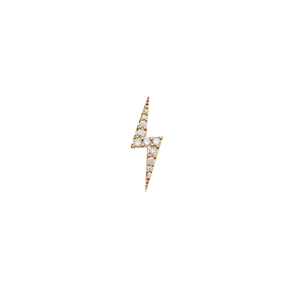 Zap Diamond Stud. 9k Yellow Gold / White Diamond