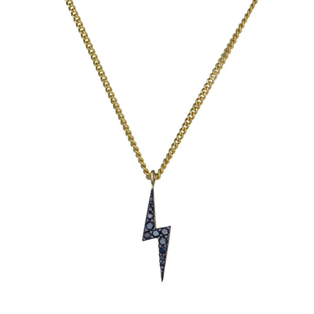 Zap Black Rhodium Black Diamond Necklace