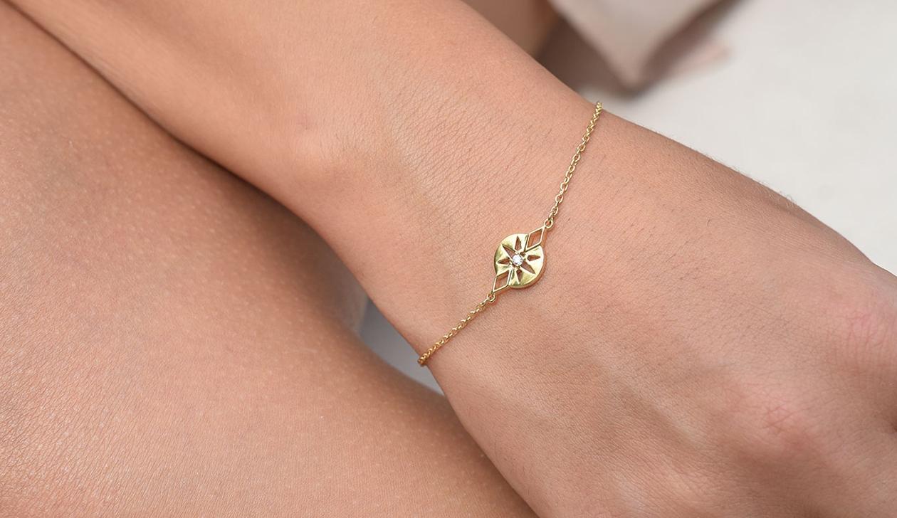 Zia Bracelet / 9k Yellow Gold